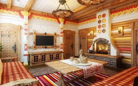 Интерьер в стиле русской усадьбы