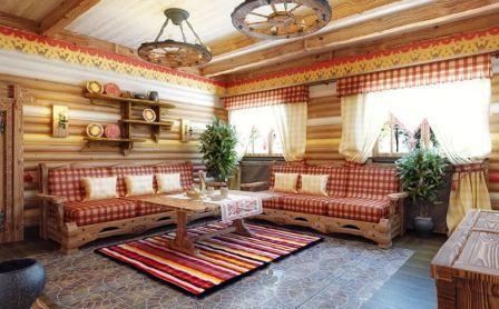 Русский стиль дизайна интерьера