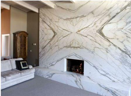 Укладка натурального камня на стену
