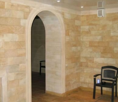 Натуральный камень для внутренней отделки стен