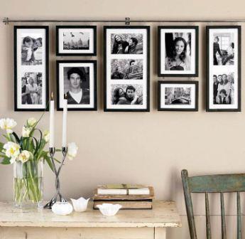 Стена с фотографиями в интерьере