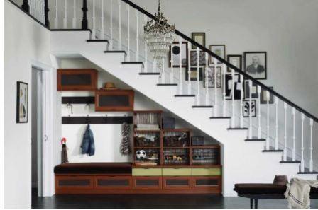 Пространство под лестницей: идеи