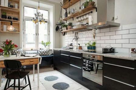 Кухня в скандинавском стиле: фото