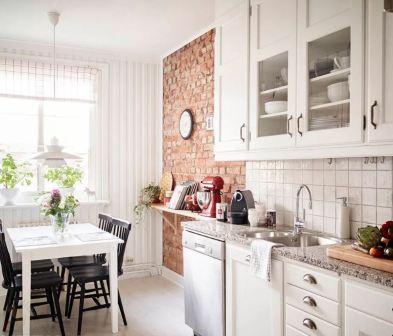 Кухня гостиная в скандинавском стиле