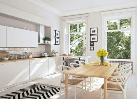 Кухня в скандинавском стиле: фото интерьер