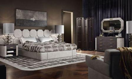 Спальня в стиле арт деко: фото интерьер