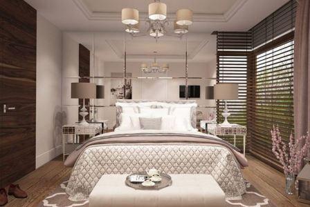 Спальня арт деко в белом