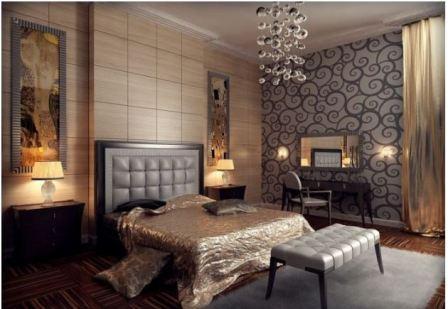 Дизайн спальни арт деко