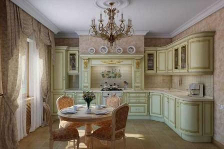 Дизайн кухни с зонированием