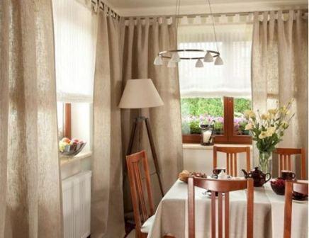 Современные шторы на кухню: фото