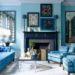 Оформление дизайна интерьера синим цветом
