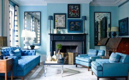 Интерьер в синих цветах