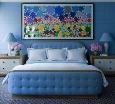 Какой цвет сочетается с синим в интерьере