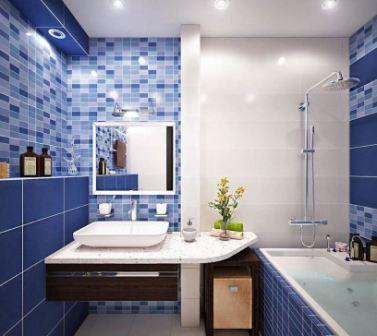 С какими цветами сочетается синий в интерьере