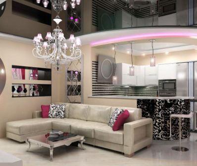 Интерьер однокомнатной квартиры студии