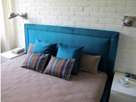Темно синяя спальня