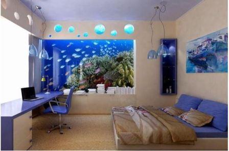 Спальня в синем стиле