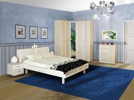 Синяя спальня: фото