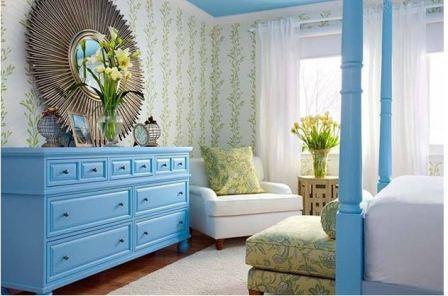 Синяя спальня: дизайн