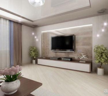Гостиная минимализм: дизайн