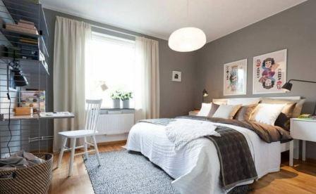 Спальня в скандинавском стиле: фото
