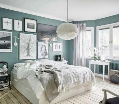 Спальня в скандинавском стиле: фото интерьер