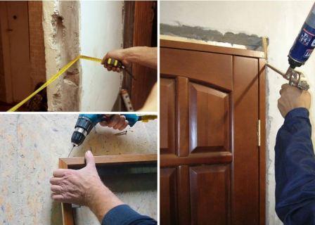 Установка межкомнатных дверей своими руками пошаговая
