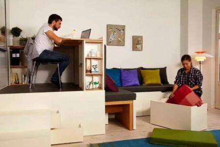 Правила подбора мебели для квартиры студии