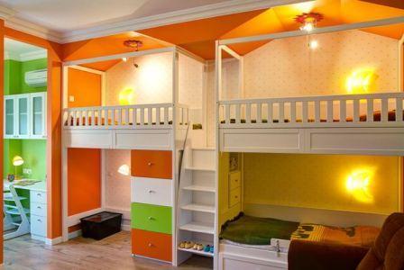 Детская для тройни, правила оформления, дизайн интерьера