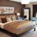 Спальня в коричневом цвете— оформление, сочетания цвета