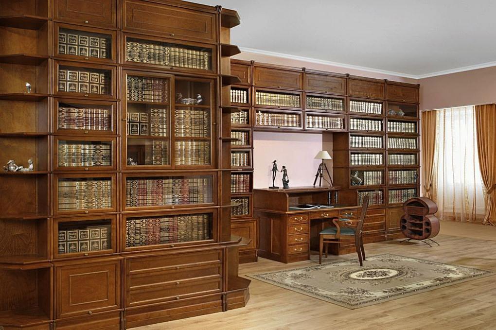 деревянные книжные шкафы